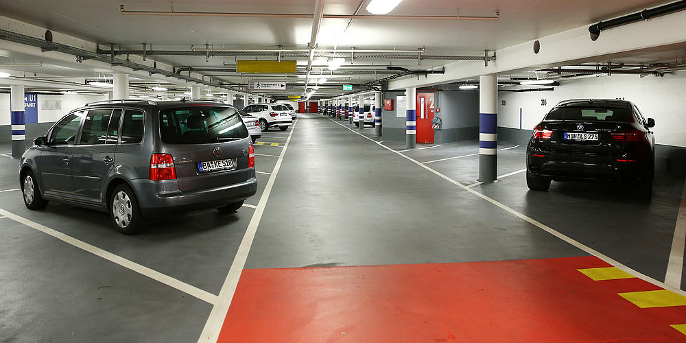 Parken in der Tiefgarage in Bamberg